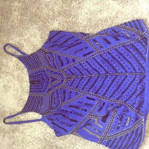 Blue and black hand crafted boutique blouse